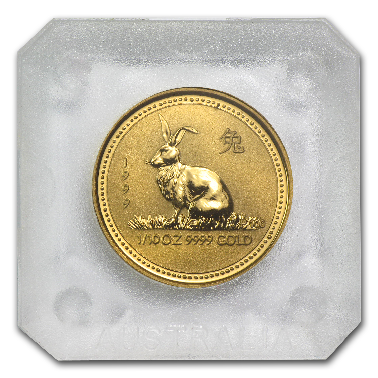 1999 1/10 oz Gold Lunar Year of the Rabbit BU (Series I)