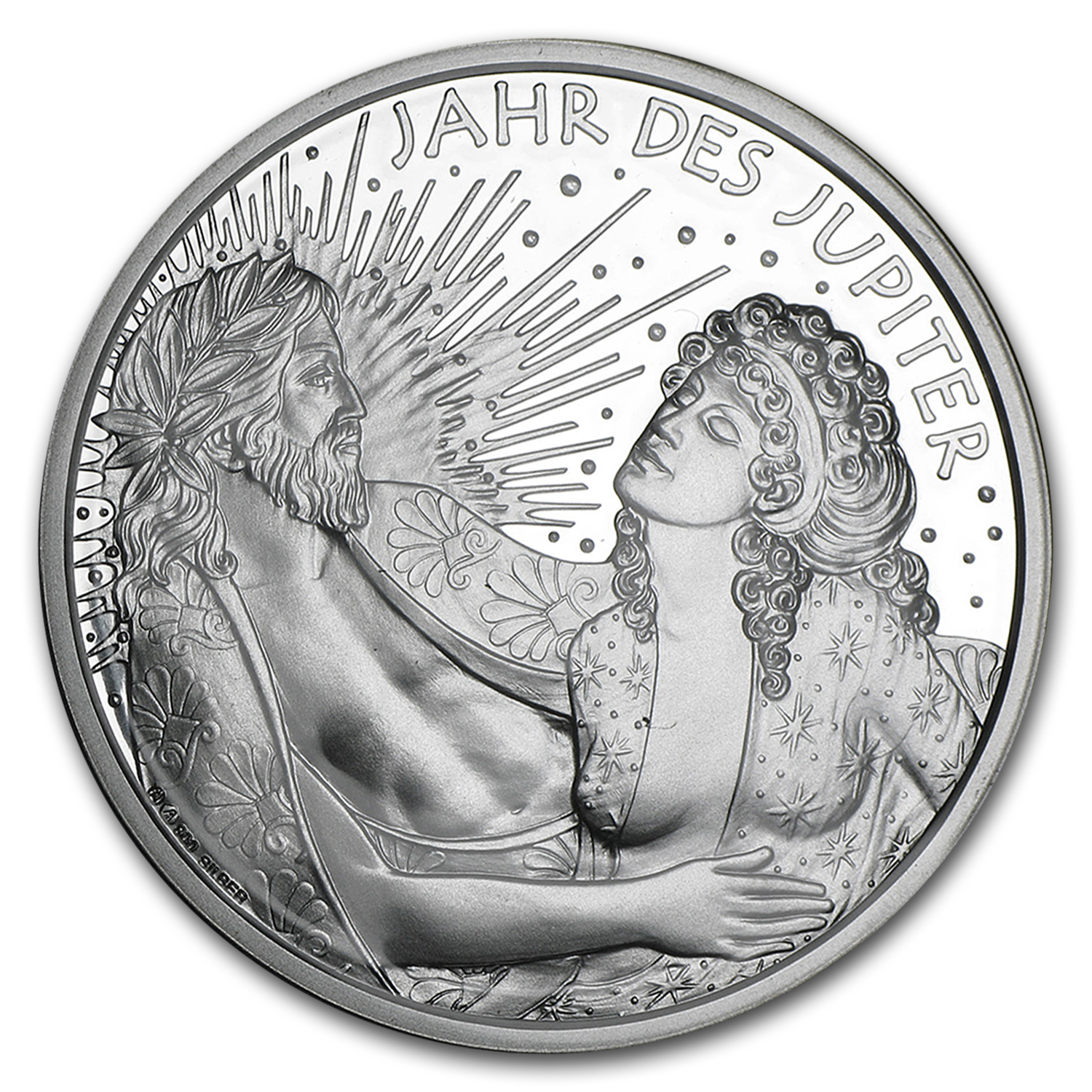 2015 Austria Silver Jupiter and Semele Kalendermedaille Proof