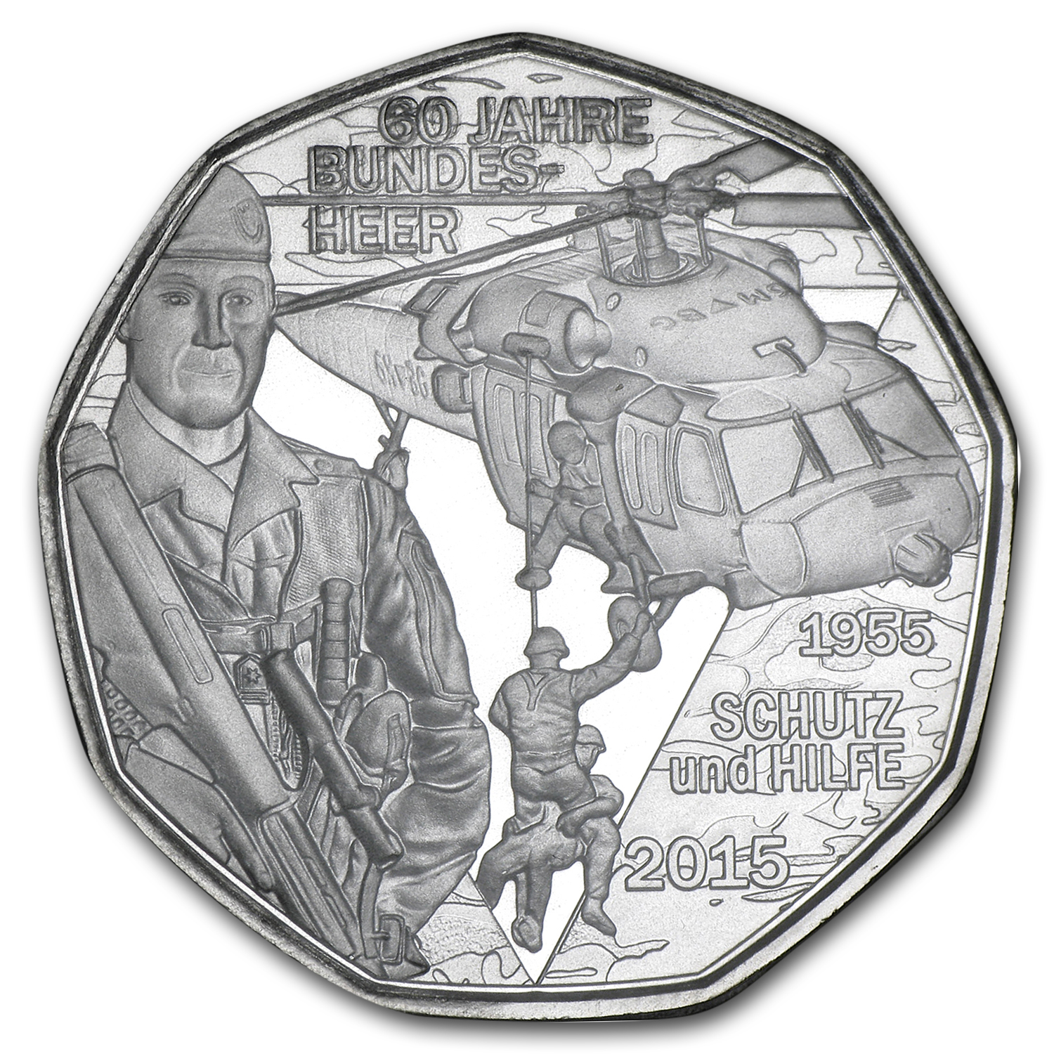 2015 Austrian Silver €5 Armed Forces: A Force for Good