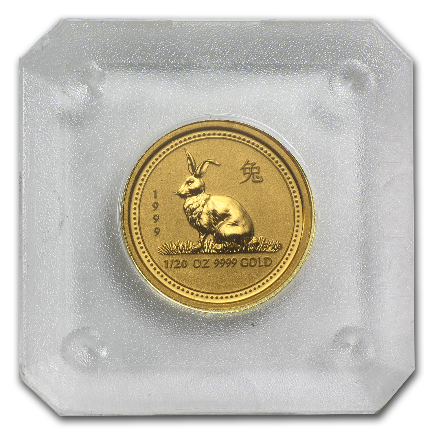1999 1/20 oz Gold Lunar Year of the Rabbit BU (Series I)