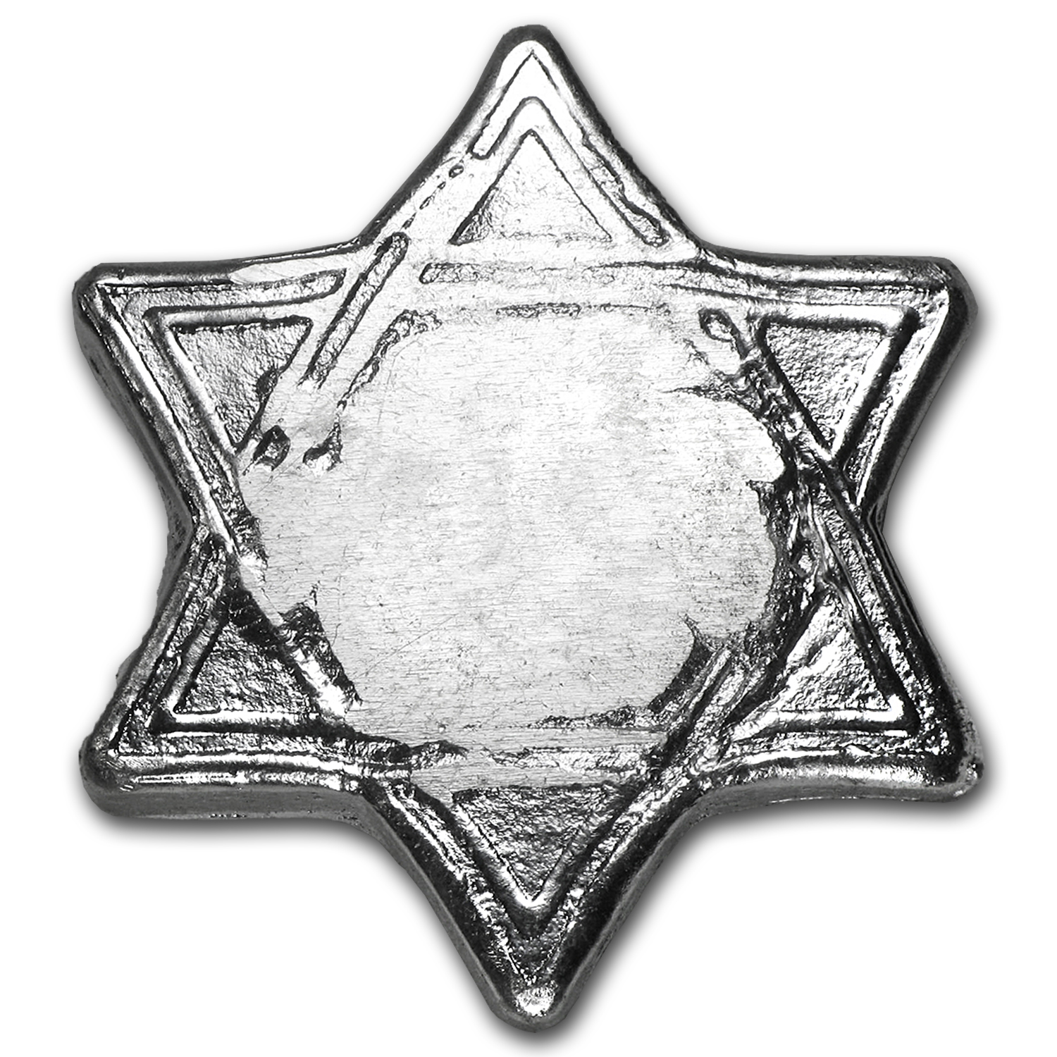 1 oz Silver Hexagram - Star of David