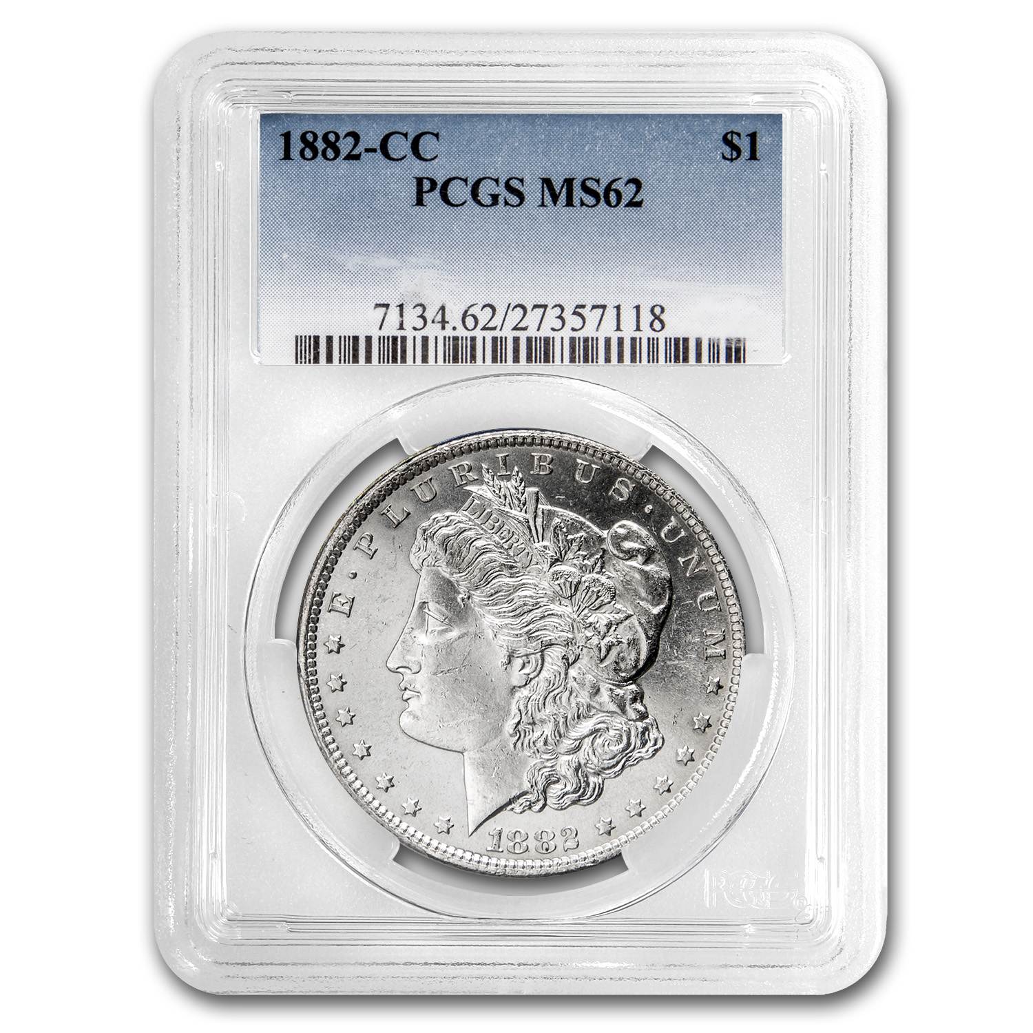 1882-CC Morgan Dollar MS-62 PCGS