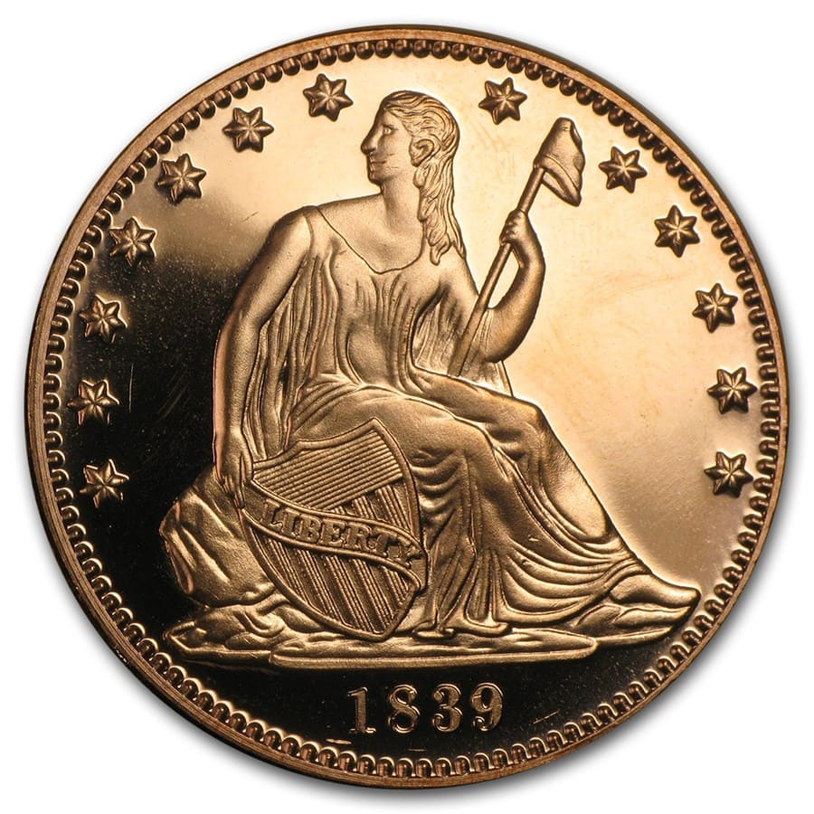 1 oz Copper Round - Seated Liberty