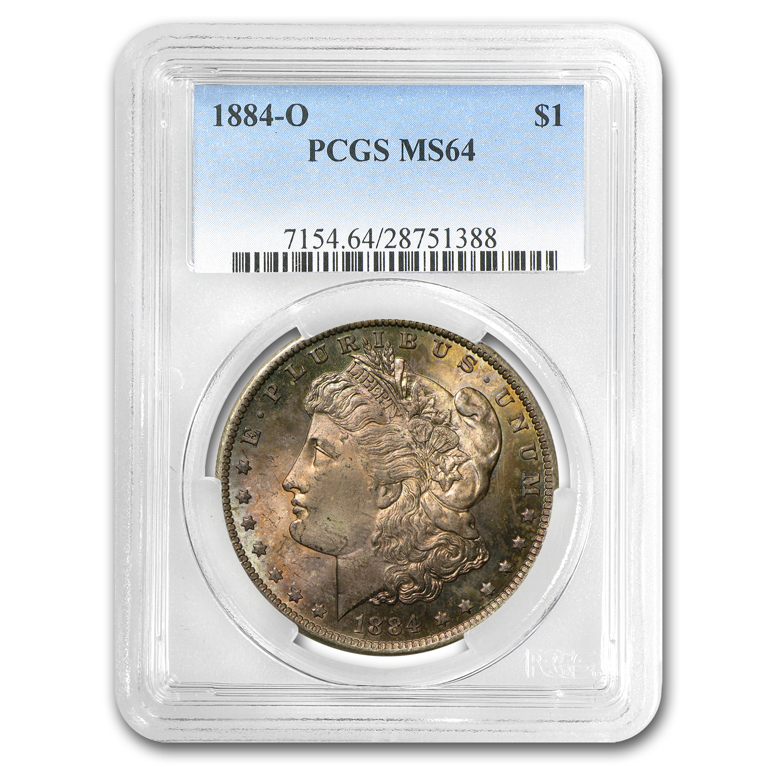 1884-O Morgan Dollar MS-64 PCGS (Toned)