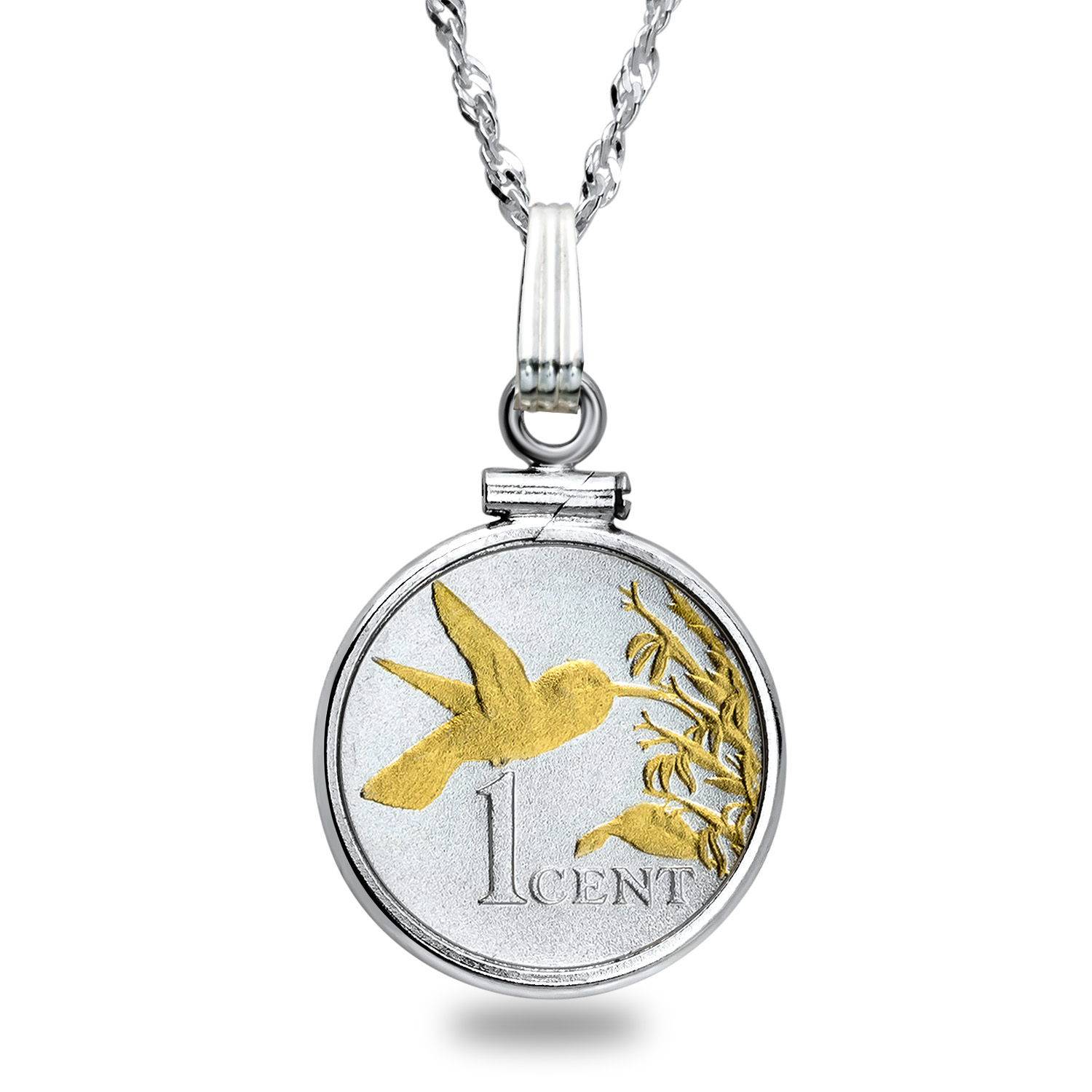 Trinidad Cent Hummingbird Necklace