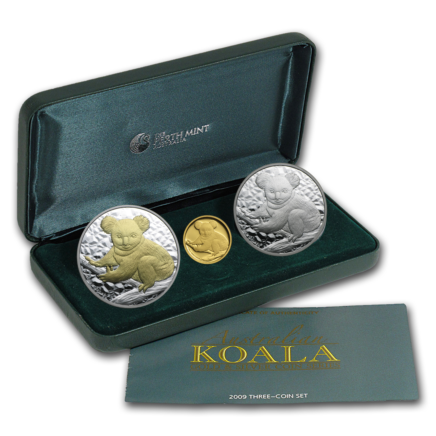 2009 Australia 3-Coin Gold & Silver Koala Proof Set