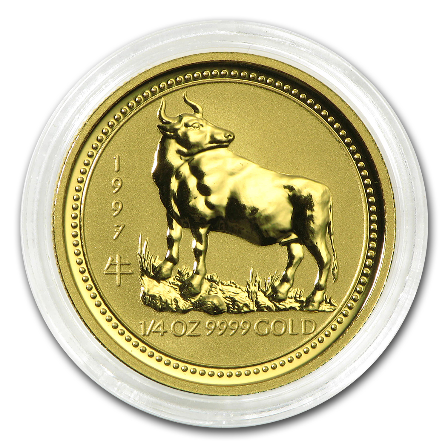 1997 1/4 oz Gold Lunar Year of the Ox BU (Series I)