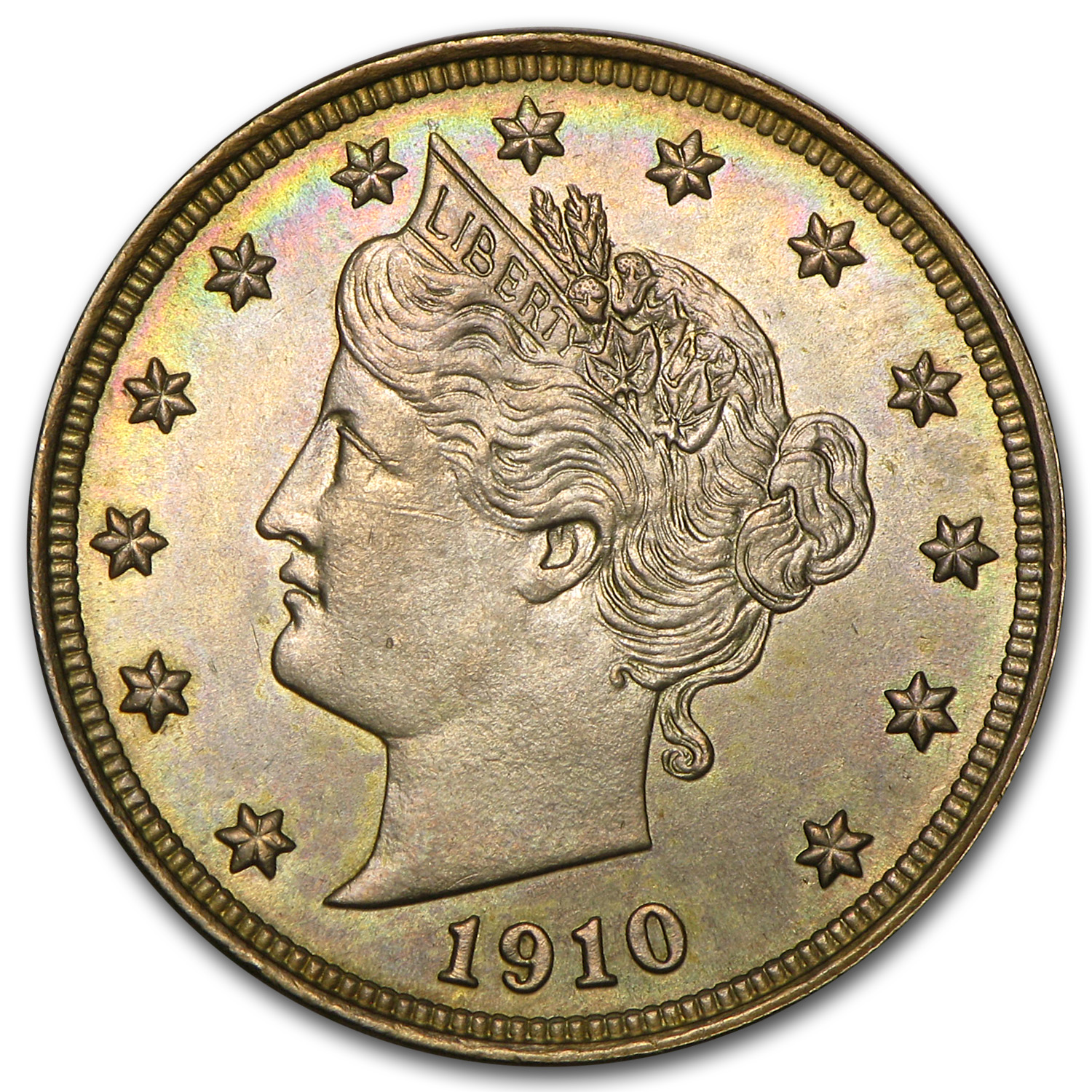 1910 Liberty Head V Nickel MS-64+