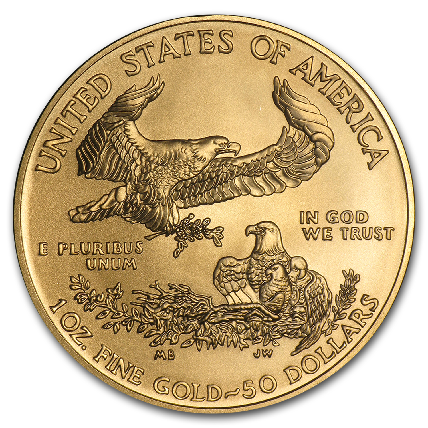 2015-W 1 oz Burnished Gold Eagle (w/Box & COA)