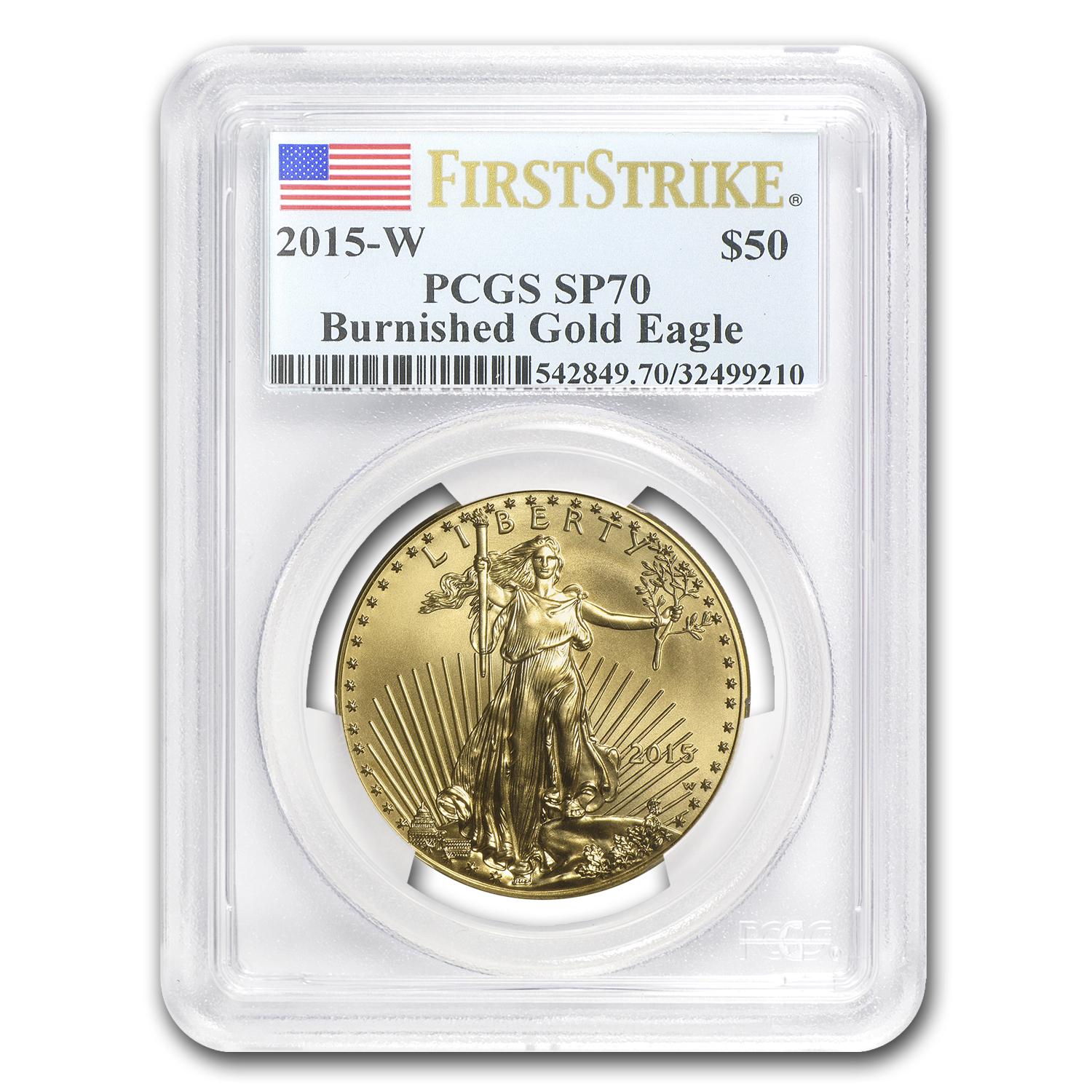 2015-W 1 oz Burnished Gold Eagle SP-70 PCGS (First Strike)