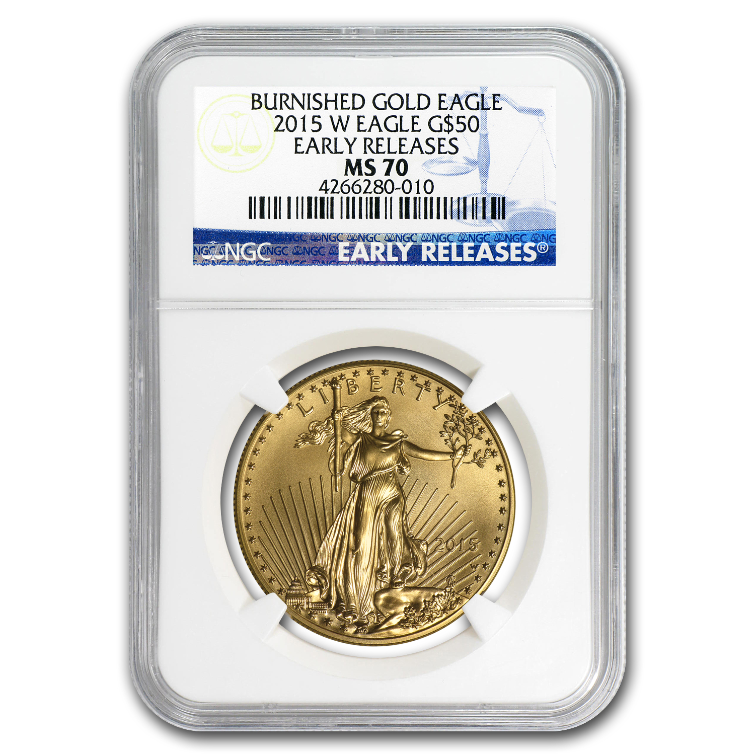 2015-W 1 oz Burnished Gold Eagle MS-70 NGC (ER)