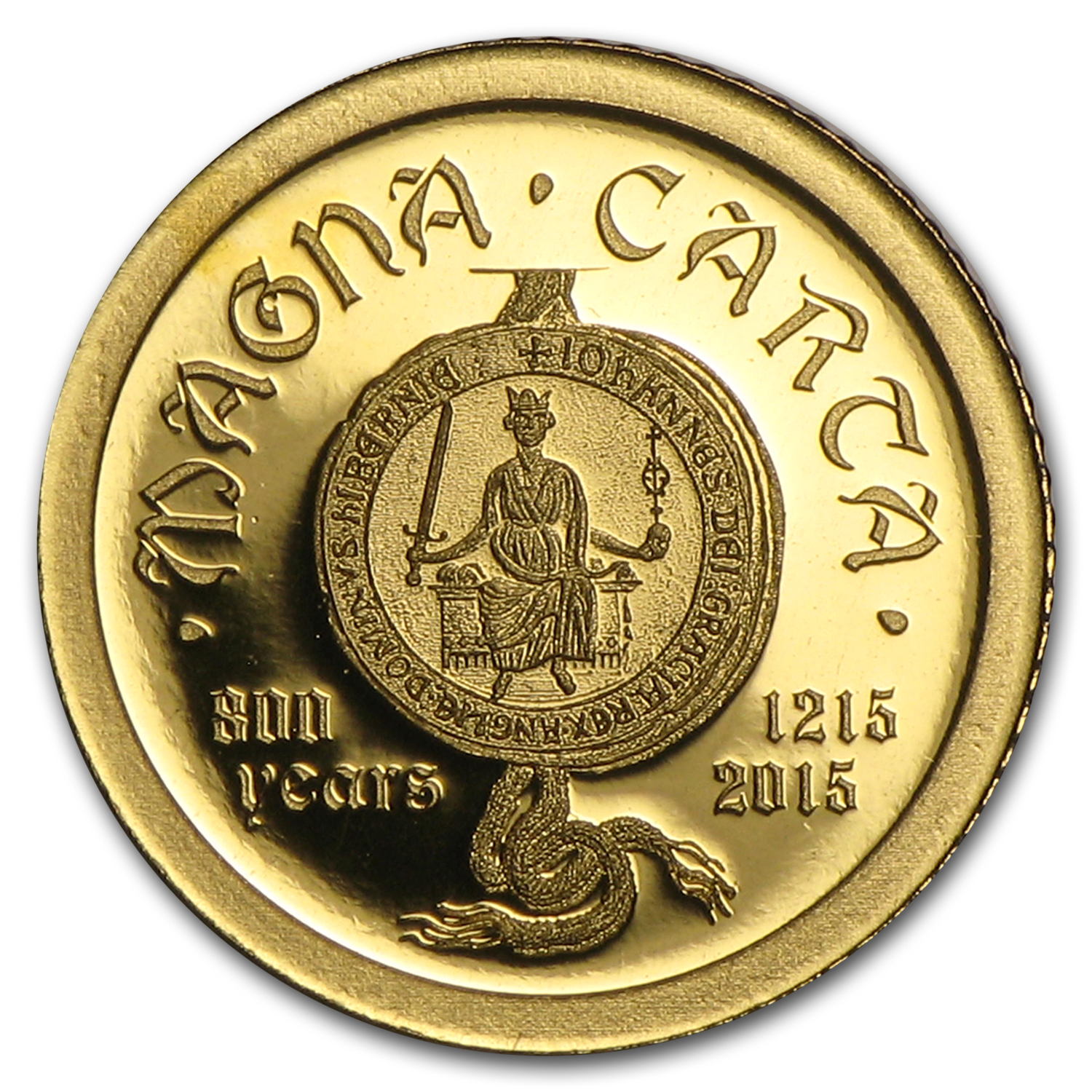 2015 Cook Islands 1/2 gram Gold 800 Years of Magna Carta