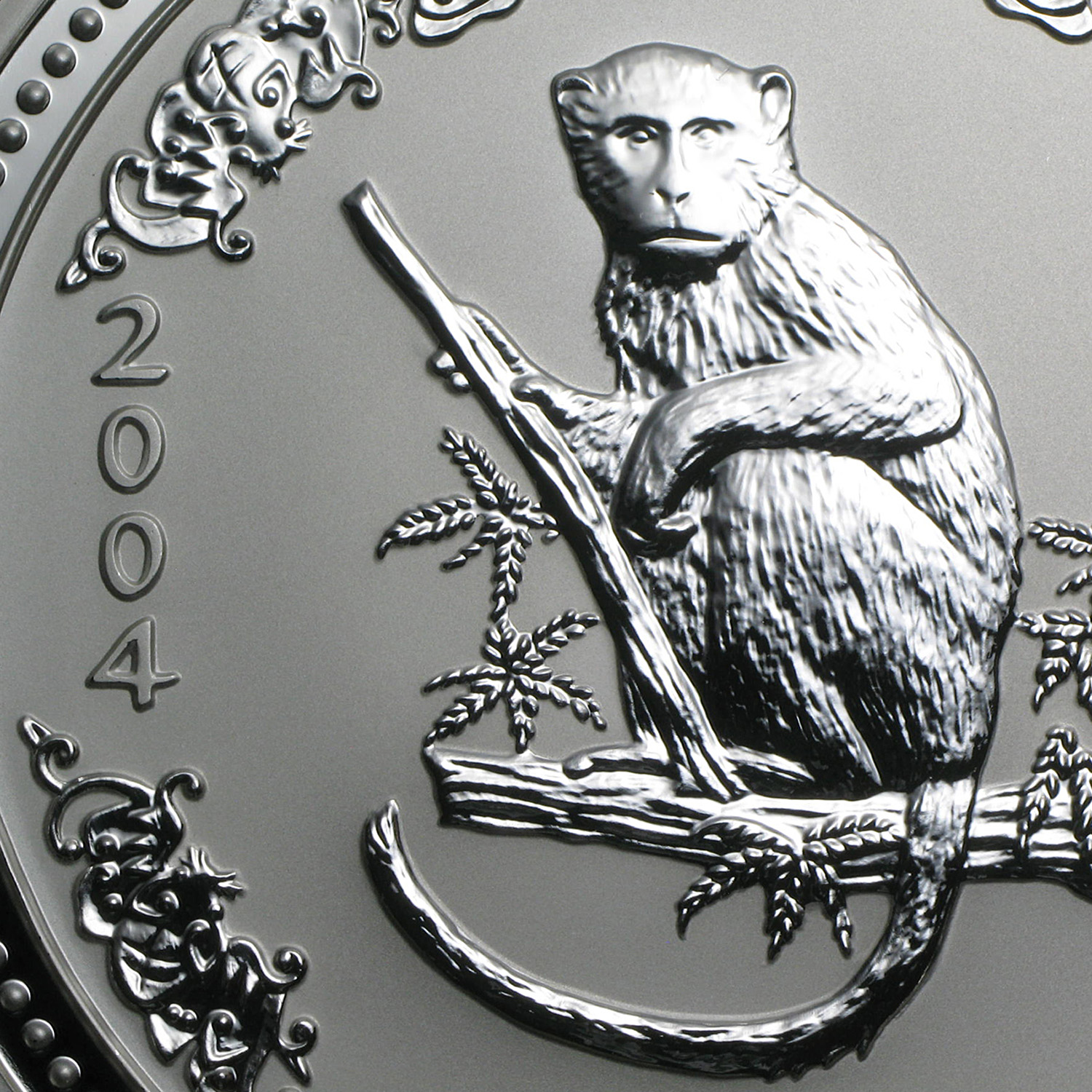 2004 1 Kilo Silver Australian Year of the Monkey BU