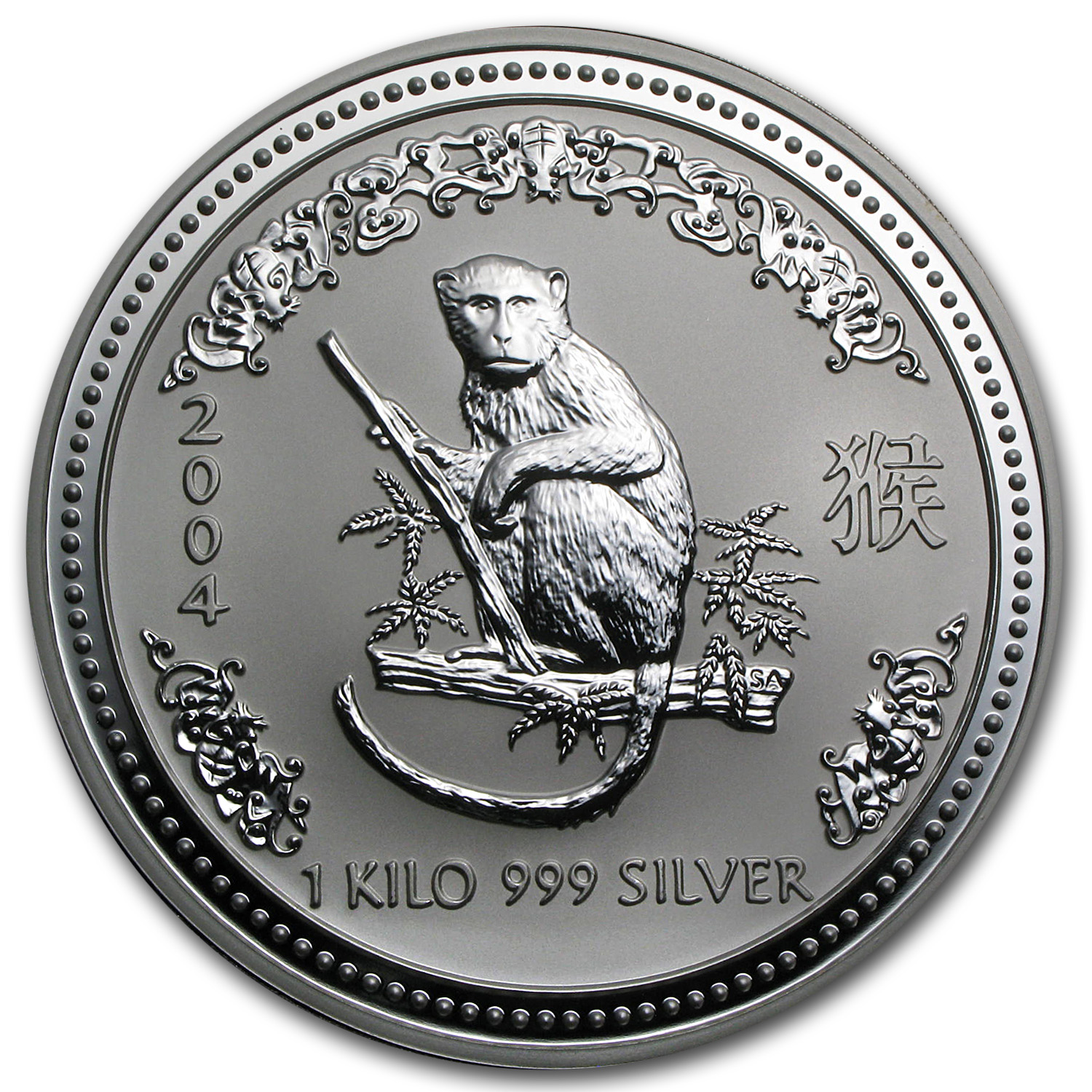 2004 Australia 1 kilo Silver Year of the Monkey BU