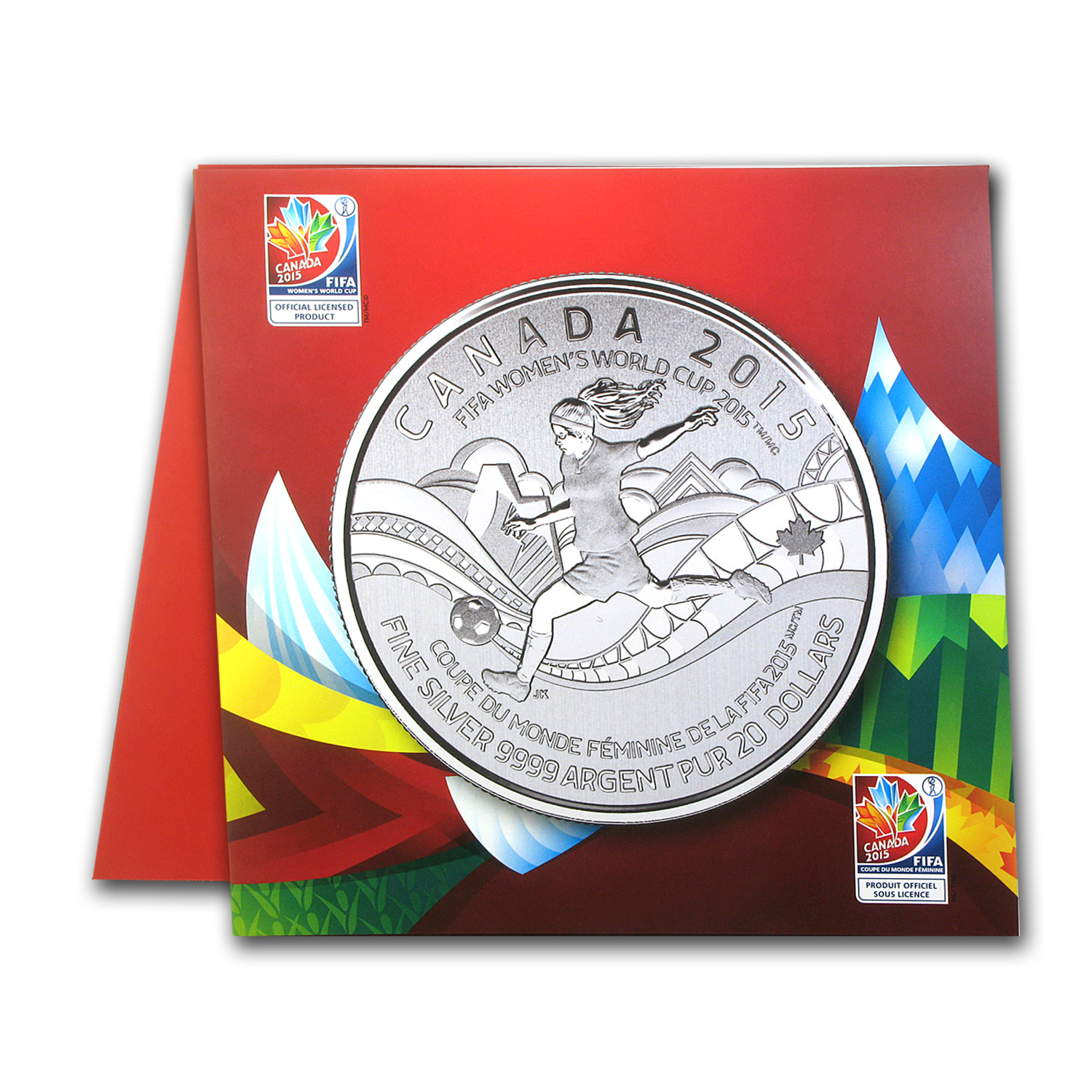 2015 Canada 1/4 oz Silver $20 FIFA Women's World Cup BU