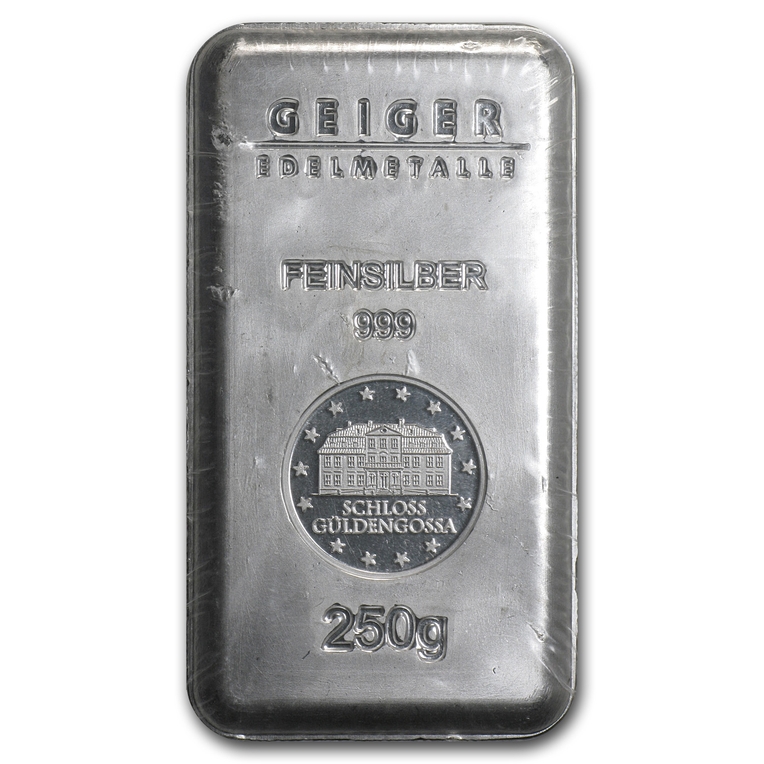 250 gram Silver Bar - Geiger Security Line Series (Scruffy)