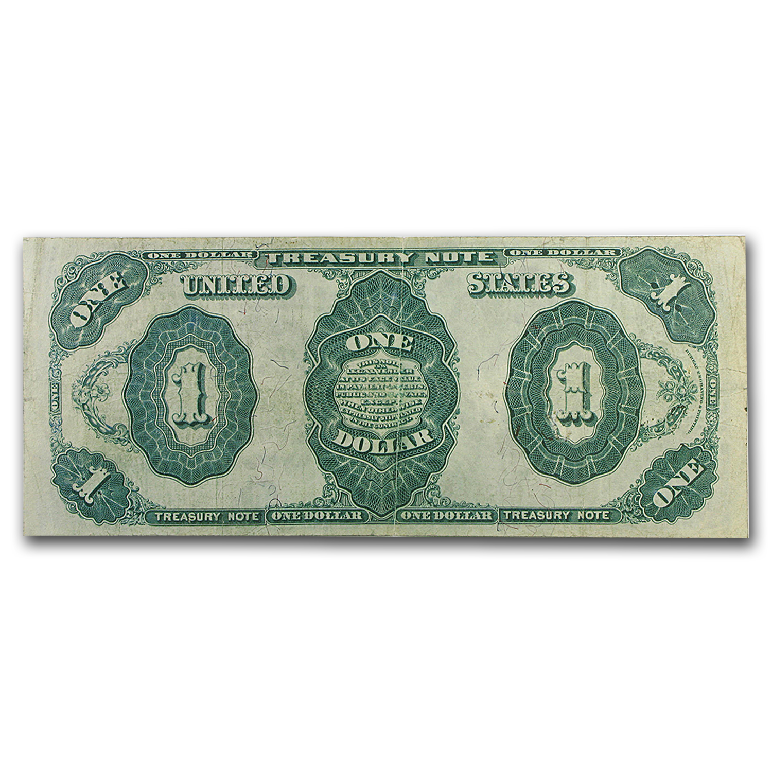 1891 $1.00 Treasury Note Stanton VF+ (#352)