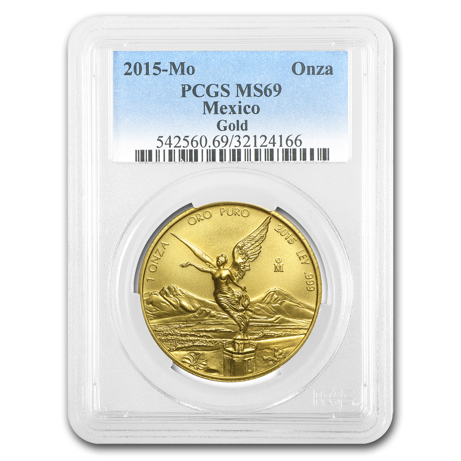 2015 Mexico 1 oz Gold Libertad MS-69 PCGS (First Strike)