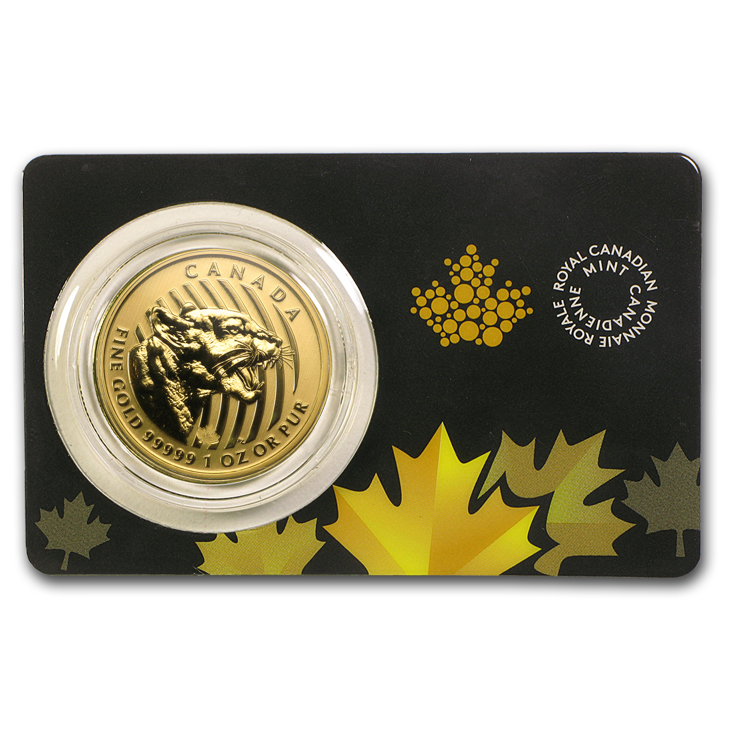 2015 Canada 1 oz Gold Growling Cougar .99999 BU (Dmgd Assay)