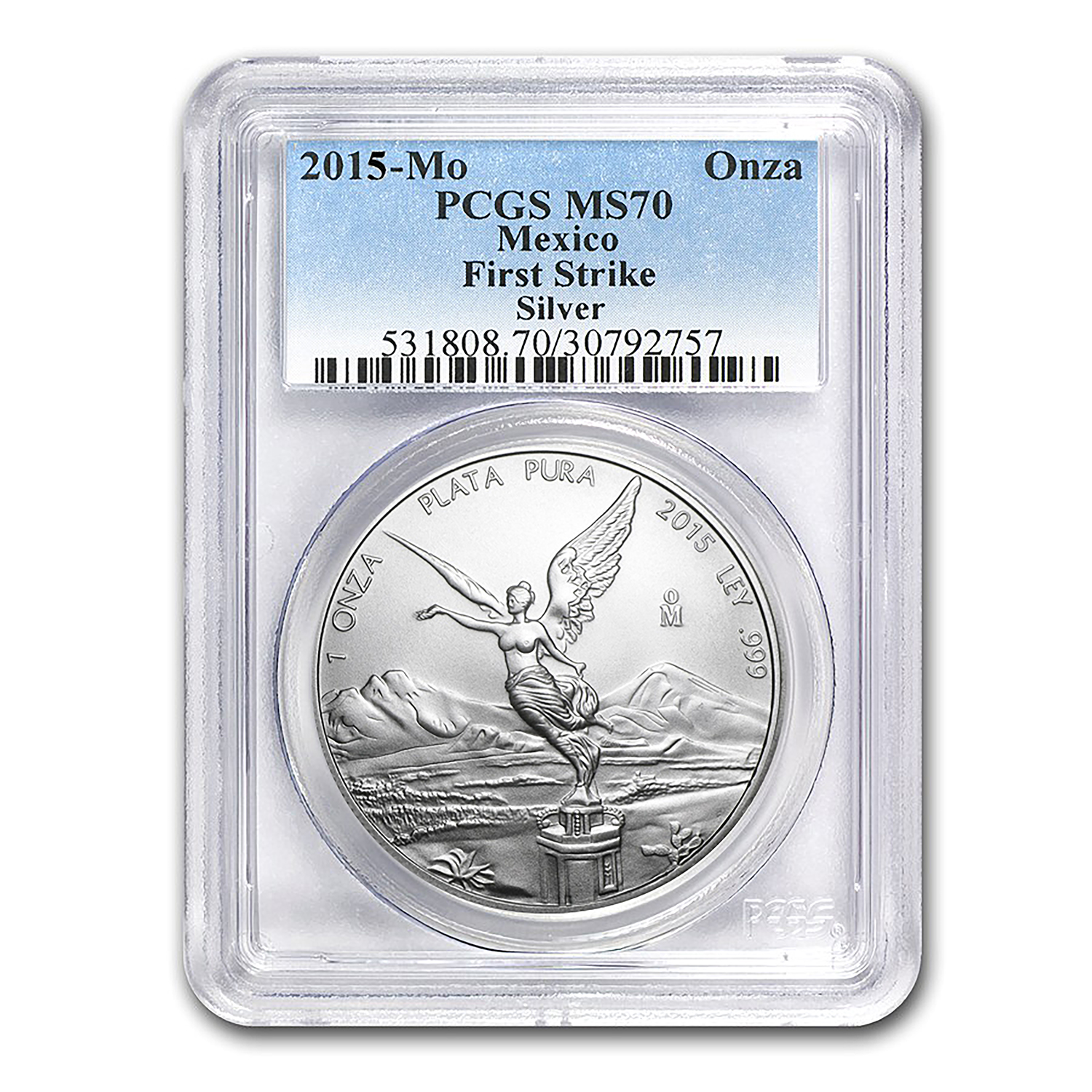 2015 Mexico 1 oz Silver Libertad MS-70 PCGS (First Strike)
