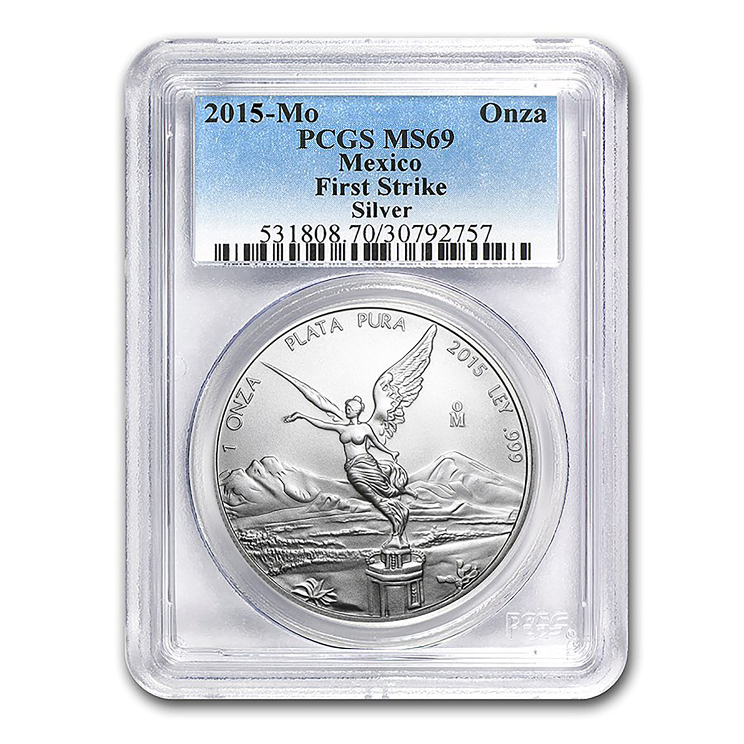 2015 Mexico 1 oz Silver Libertad MS-69 PCGS (First Strike)