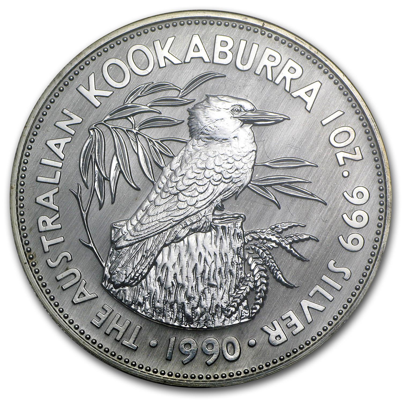 1990 Australia 1 Oz Silver Kookaburra Bu Perth Mint