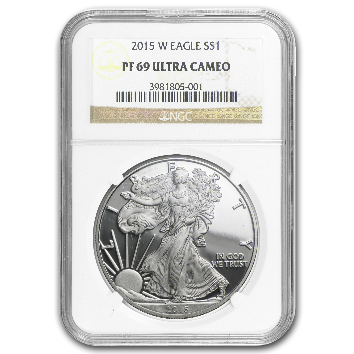 1986-2015 29-Coin Proof Silver American Eagle Set PF-69 NGC