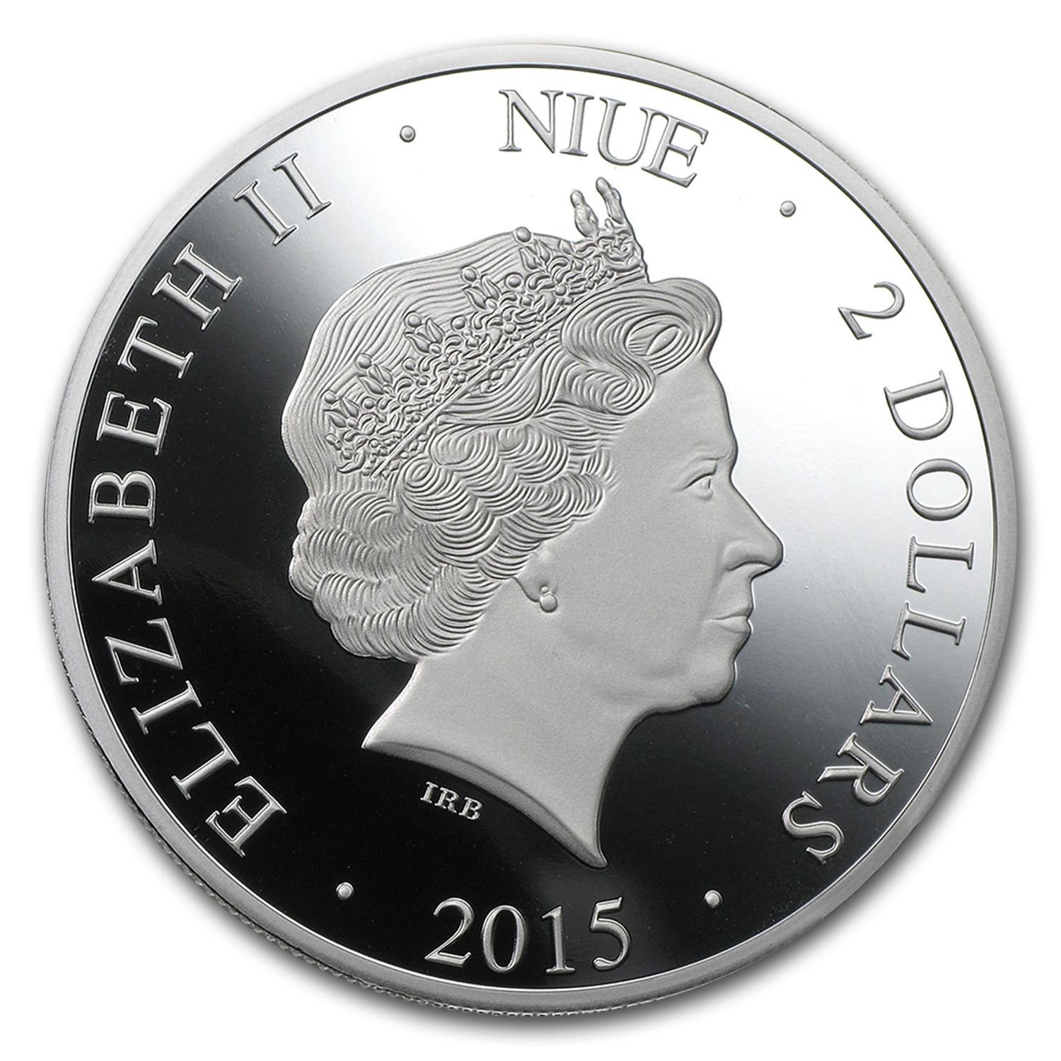 2015 Niue 1 oz Silver $2 Hologram Colosseum in Rome Proof