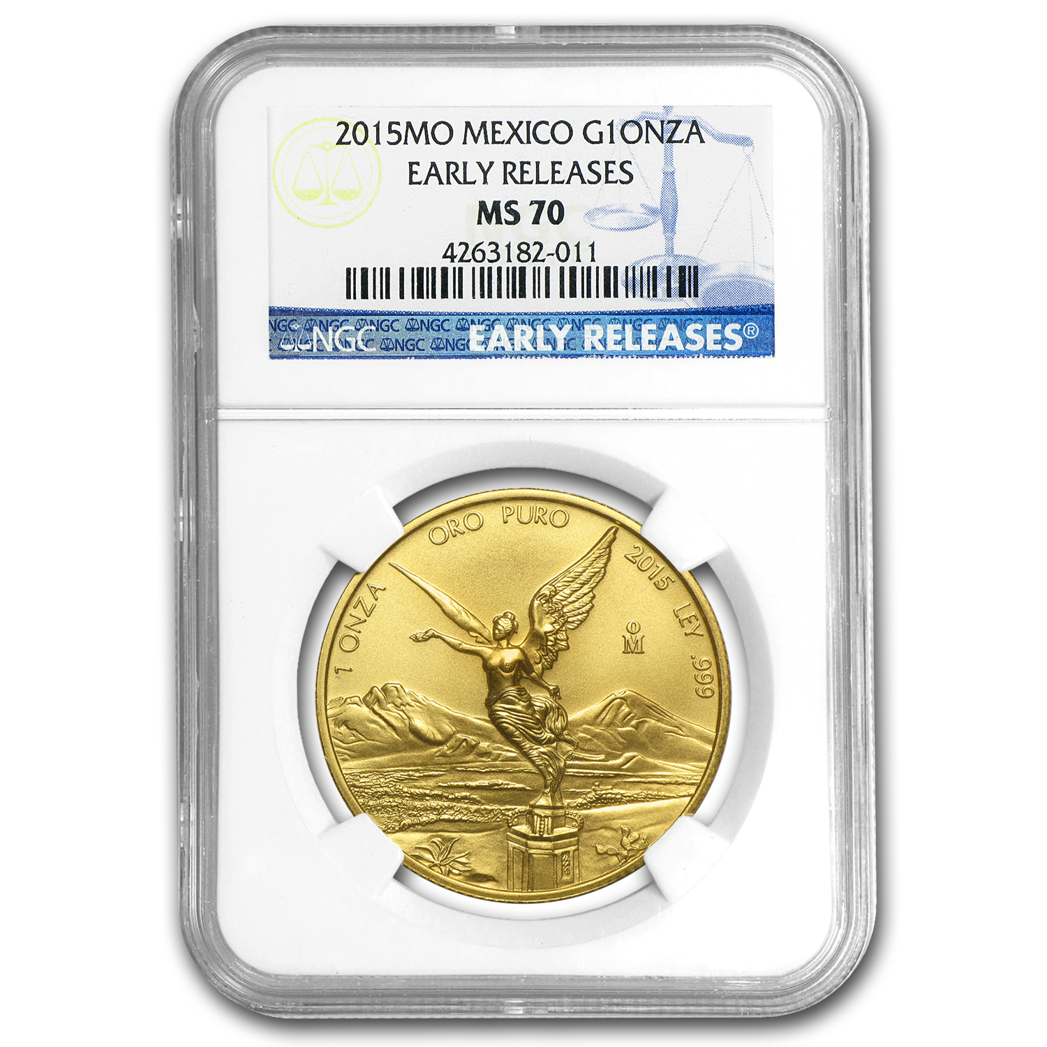 2015 Mexico 1 oz Gold Libertad MS-70 NGC (Early Release)