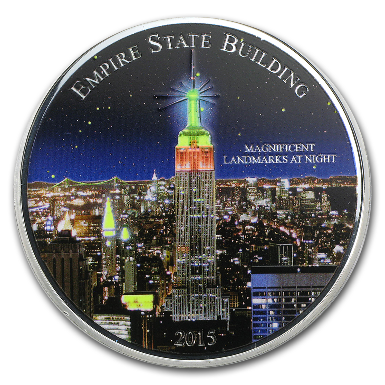 2015 Cameroon 2 oz Silver Magnificent Landmarks Empire State