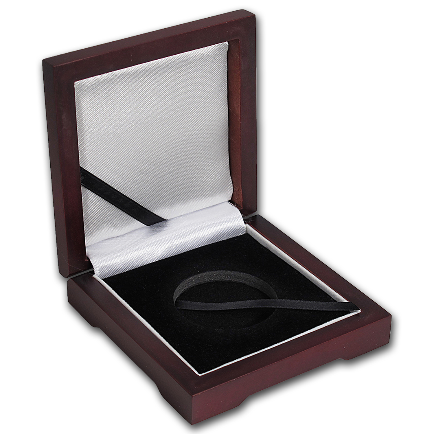 Single Coin Wood Presentation Box - Fits Up to 40 mm