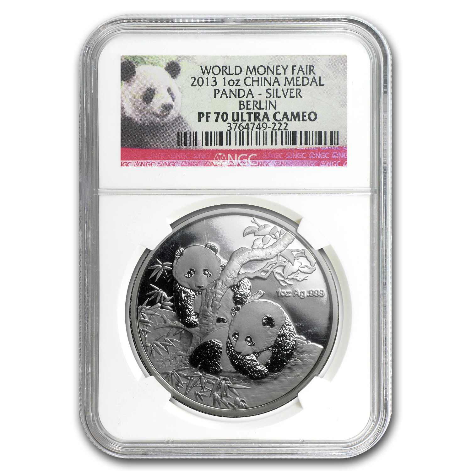 2013 China 1 oz Silver Panda Berlin Money Fair PF-70 NGC