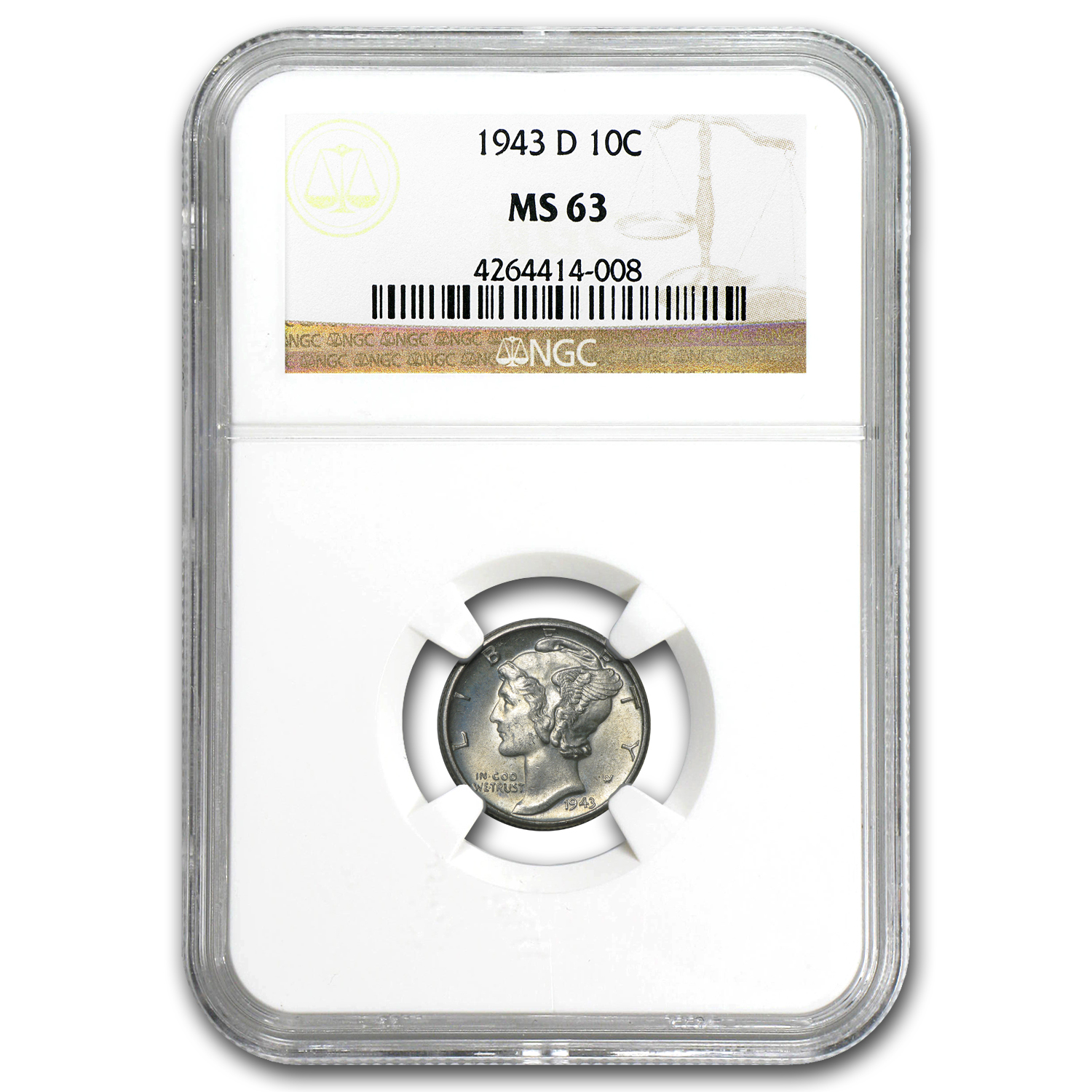 1943 D Mercury Dime Ms 63 Ngc Silver Prices