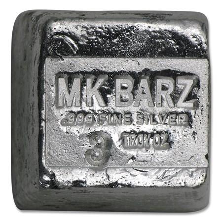 3 Oz Silver Cube Mk Barz Amp Bullion All Other Sizes