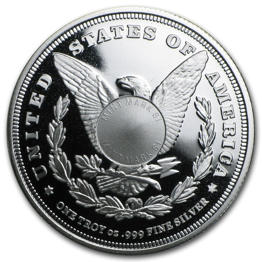 1 oz Silver Round - Morgan Dollar(V2) (Jun 5th)
