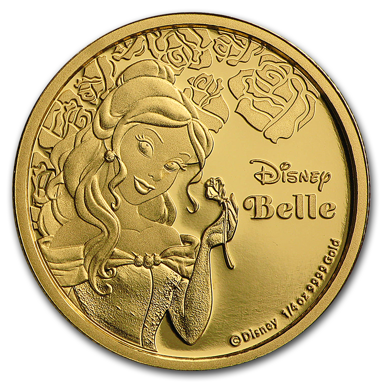 2015 Niue 1/4 oz Proof Gold $25 Disney Princess - Belle