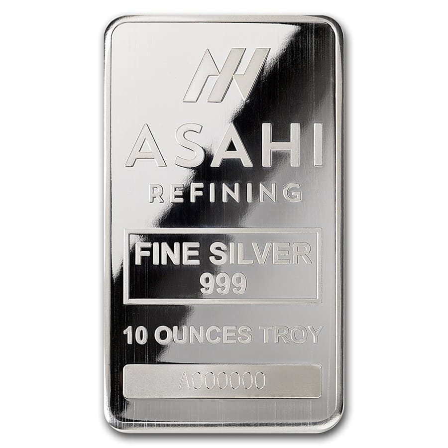 10 oz Silver Bar - Asahi (Serialized)