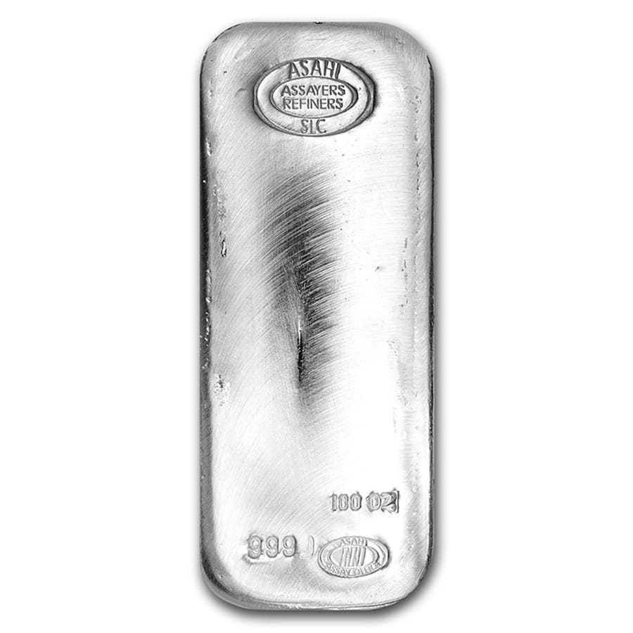 100 oz Silver Bar - Asahi (Sept 18th)