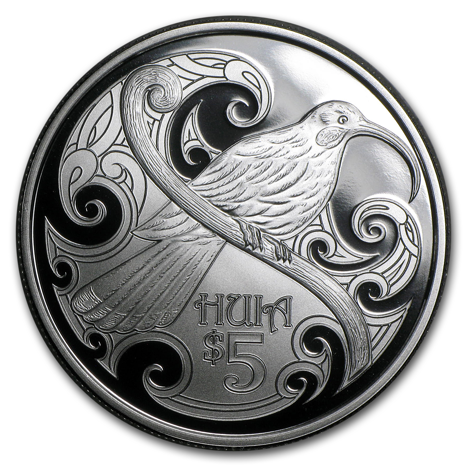 2015 New Zealand 1 oz Silver $5 Annual Coin Huia