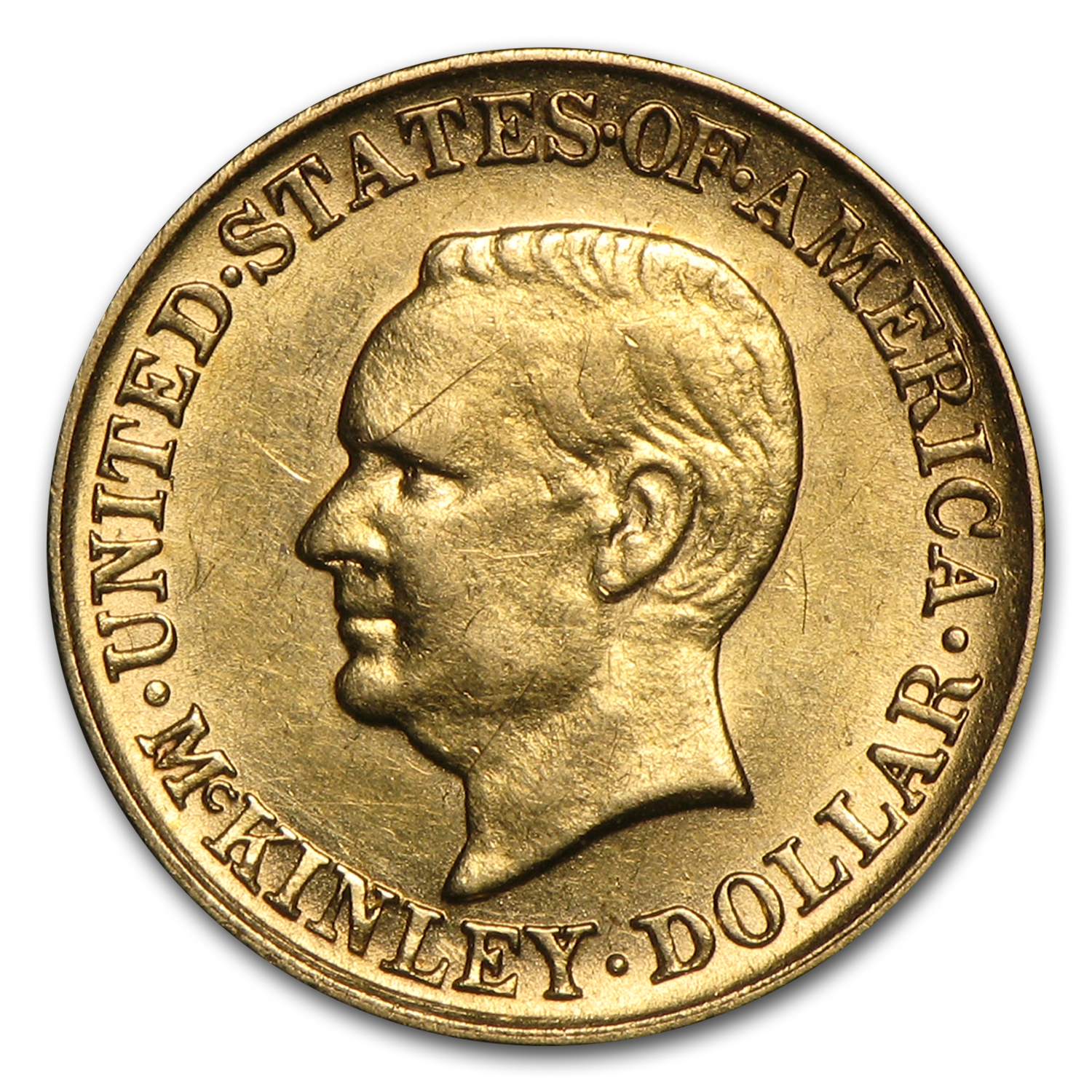 1916 Gold $1.00 McKinley Memorial AU