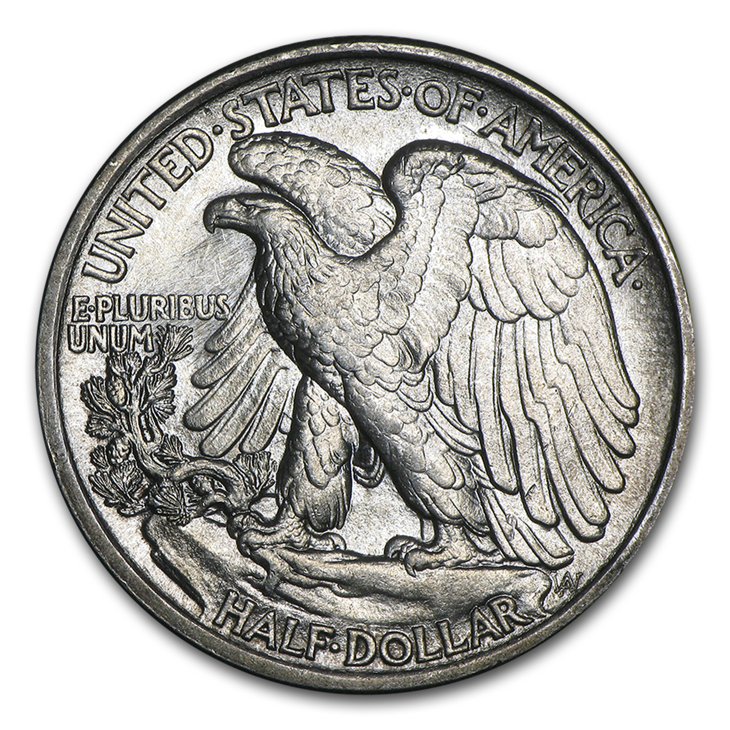 1916 Walking Liberty Half Dollar AU-58