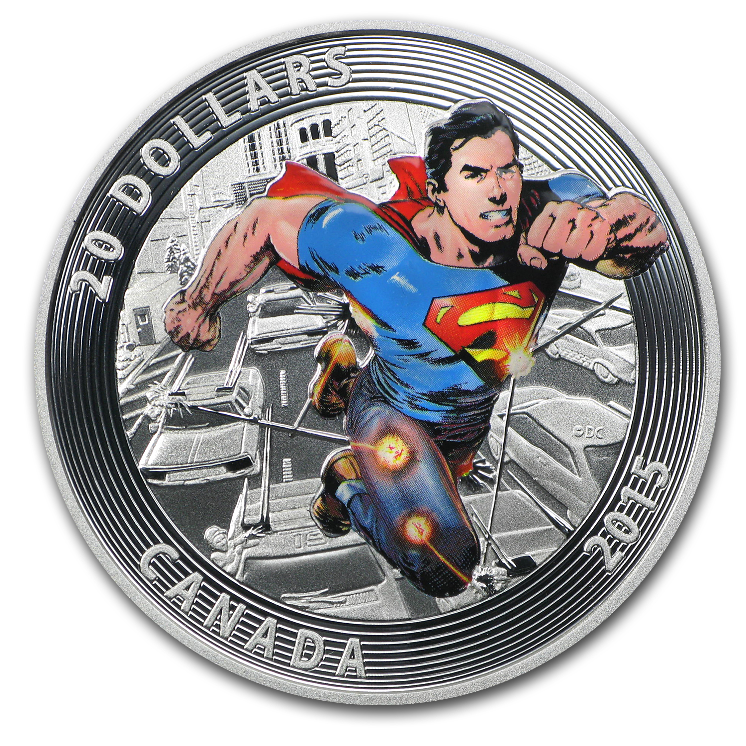 2015 Canada Silver Iconic Superman™ Comic Book Covers (#1)