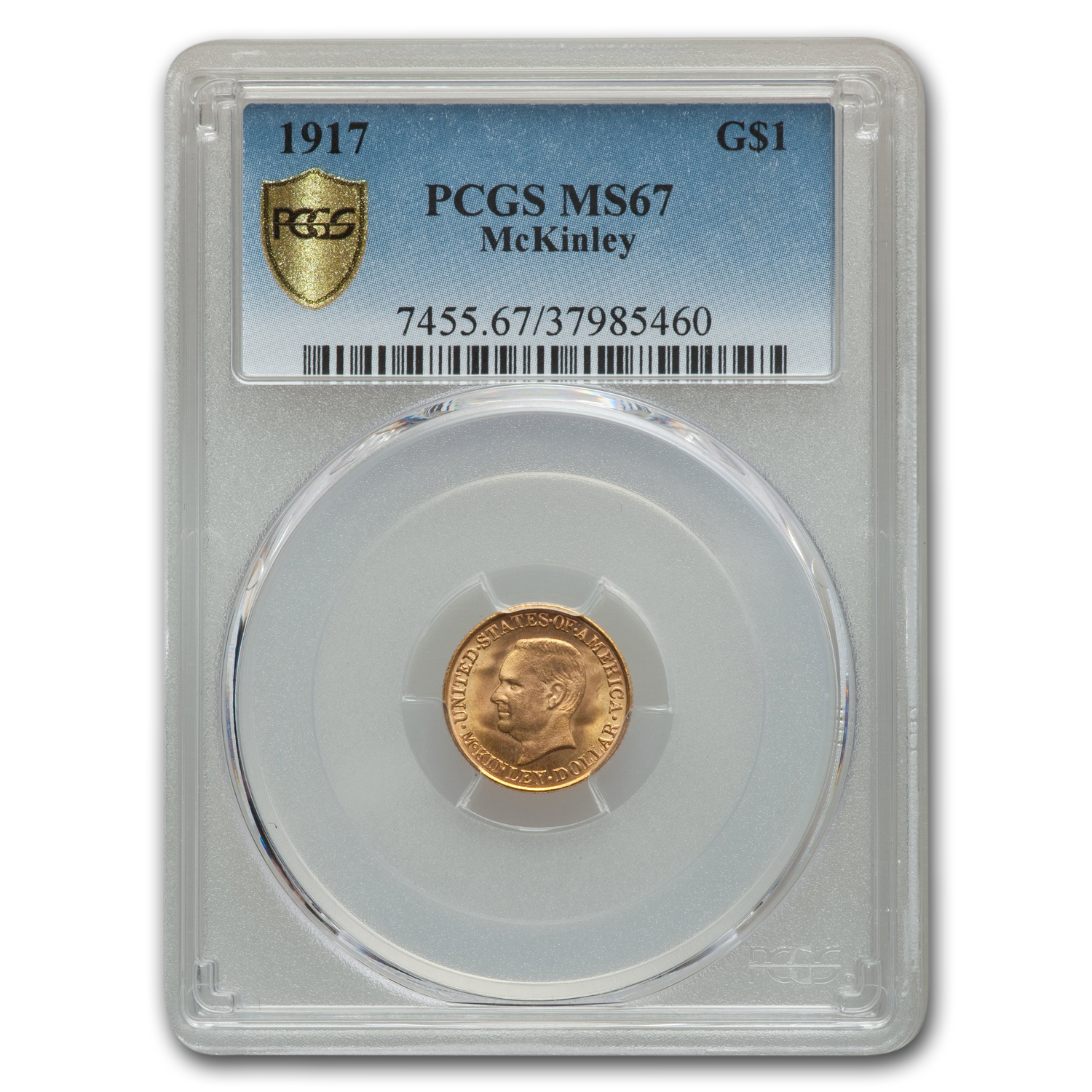 1916 Gold $1.00 McKinley MS-67 PCGS