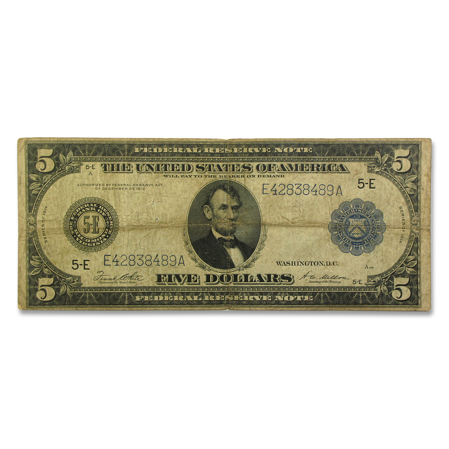 1914 (E-Richmond) $5.00 FRN VG