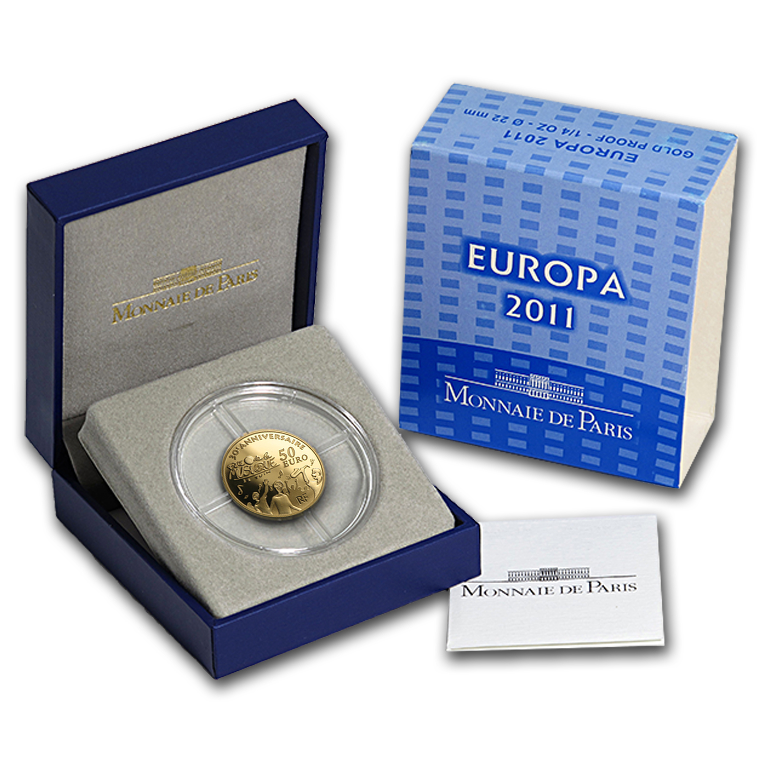 2011 1/4 oz Proof Gold €50 Festival of Music