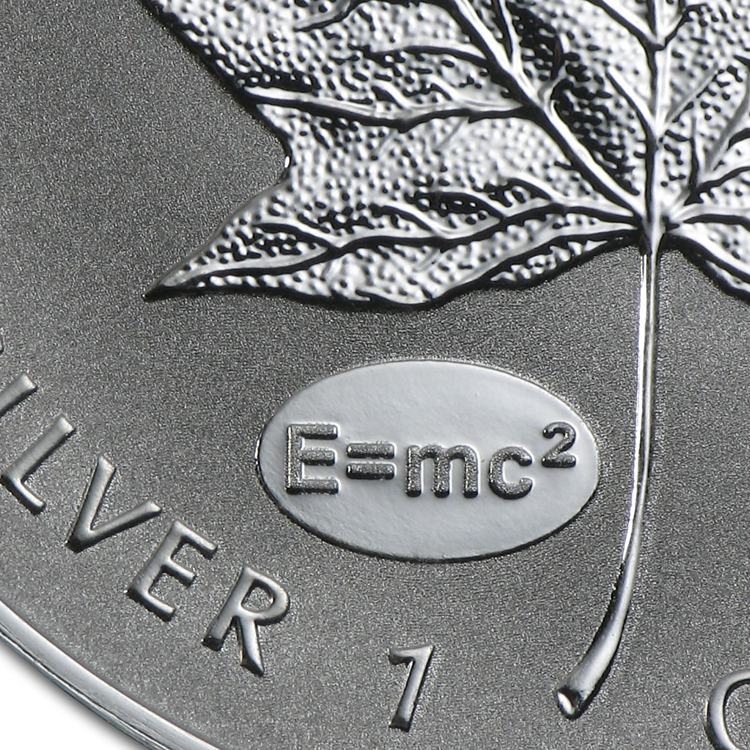 2015 Canada 1 oz Silver Maple Leaf Einstein Privy Reverse Proof