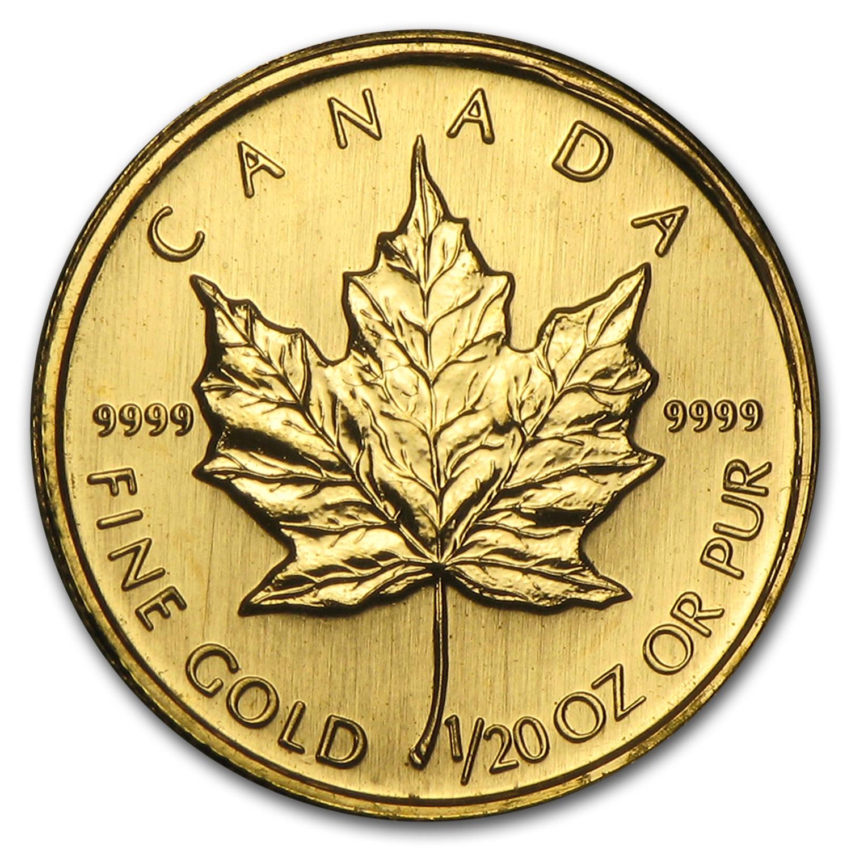 2002 Canada 1 20 Oz Gold Maple Leaf Bu Spot Gold