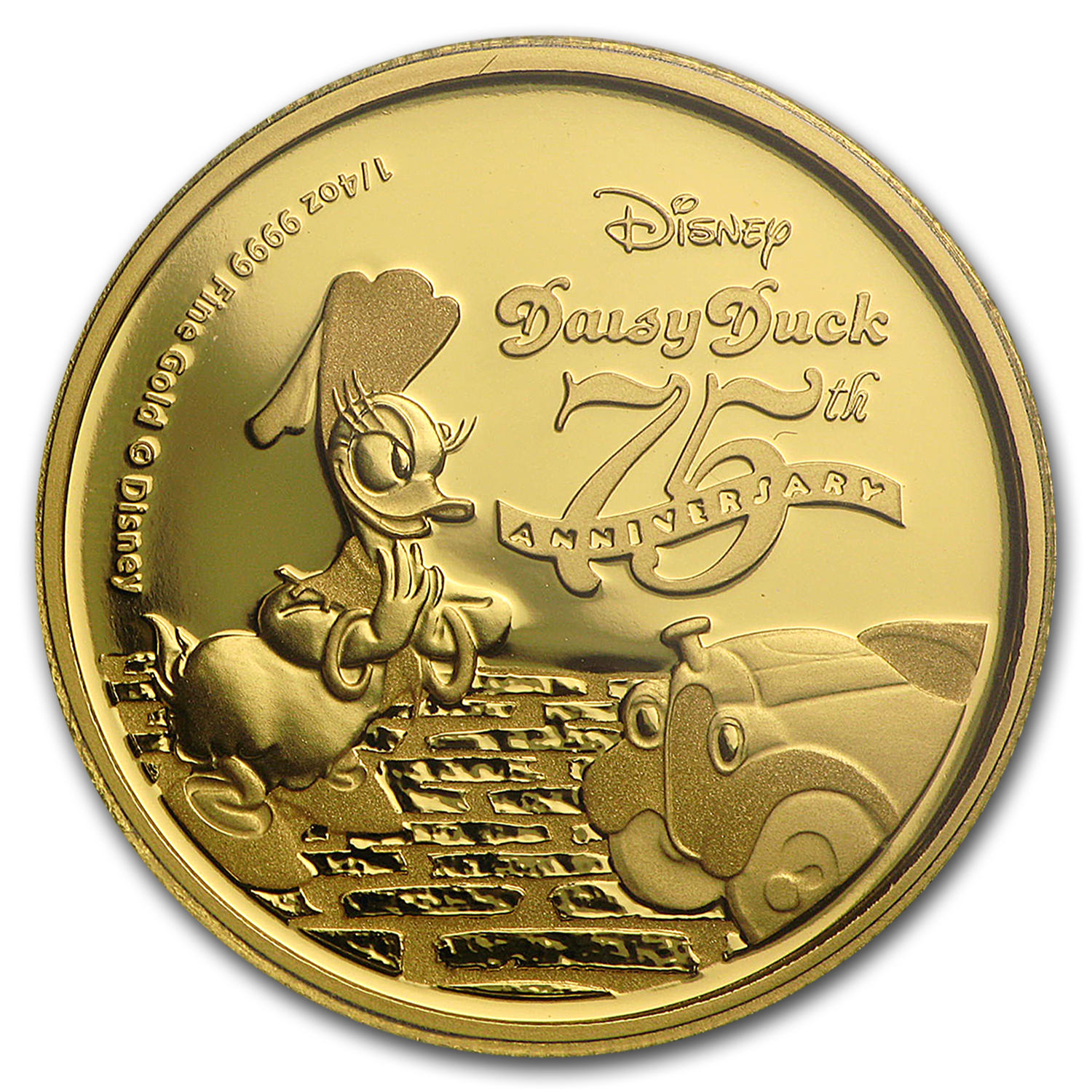 2015 Niue 1/4 oz Proof Gold $25 Disney Daisy Duck