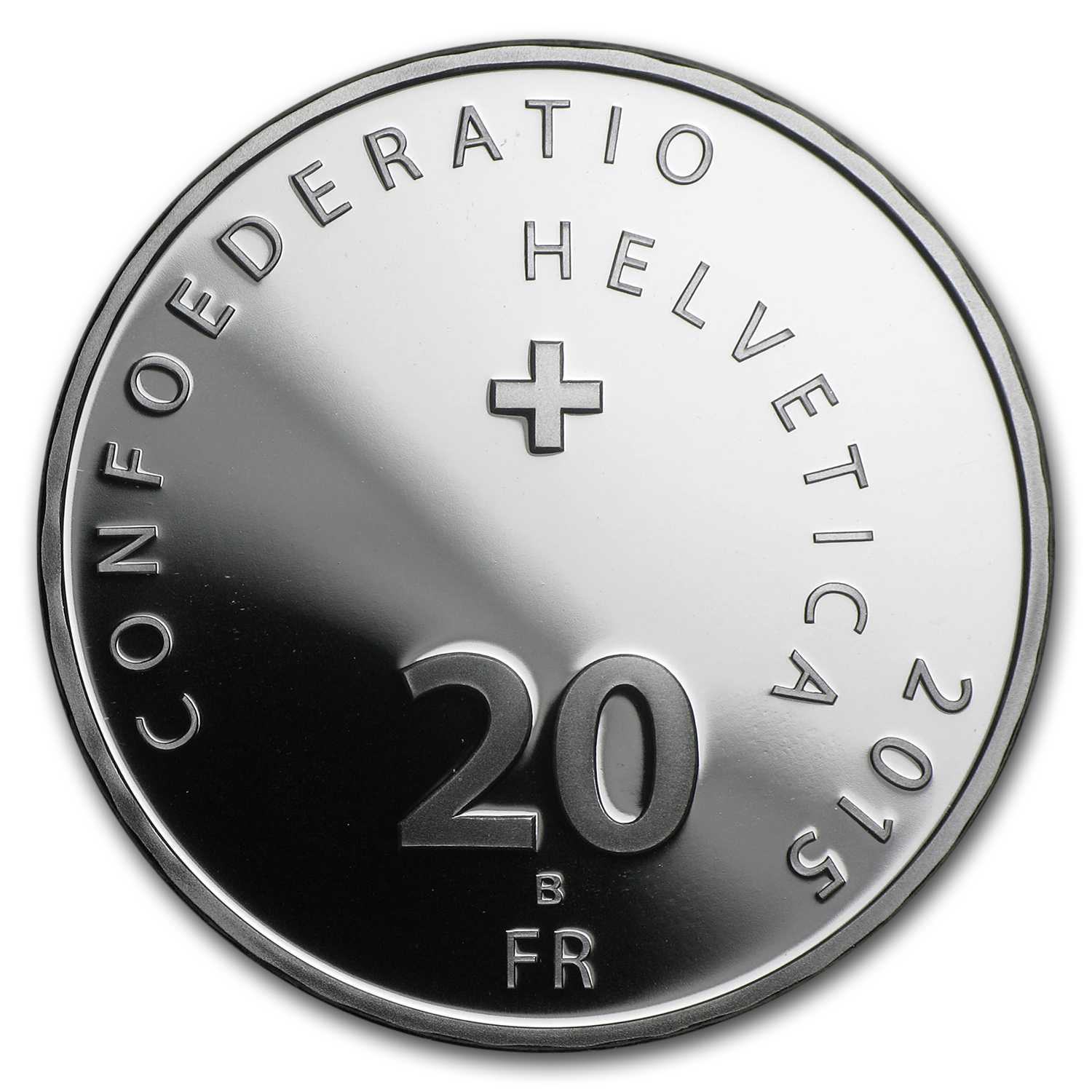 2015 Switzerland Proof Silver 20 CHF Hornussen