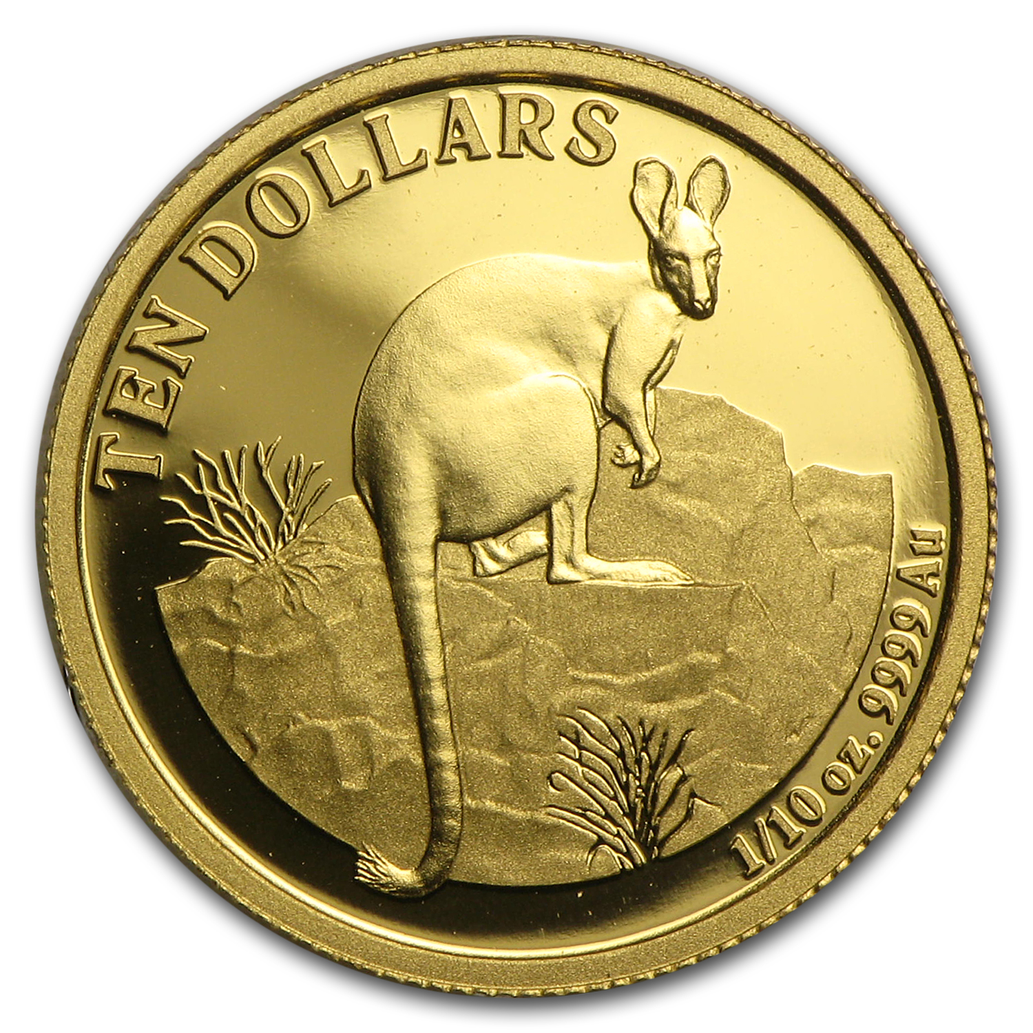 2010 Australia 1/10 oz Proof Gold Kangaroo
